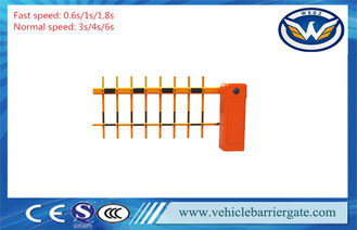 China Automatic Straight Boom Car Park Entrance Barriers With 2 Fence Arm supplier