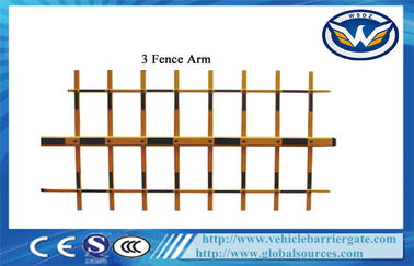 China 3 Fence Arm Aluminum Alloy Boom For Automatic Car Parking Barrier Gate supplier