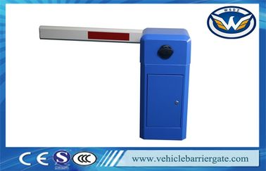 Blue Manual Release Securiry Automatic Boom Barrier For Parking Lot System
