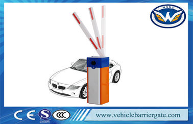 China Vehicle Security Parking Lot Barrier Gate , Barrier Boom Gate Blue And Orange supplier