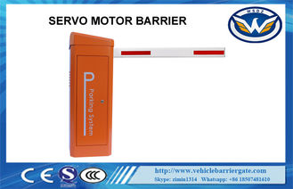 China IP65 24V DC Vehicle Barrier Gate / Security Boom Barrier Brushless Servo Motor supplier