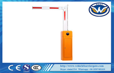 China Folding Arm Car Park Barriers Automatic Parking Gate Barrier , Orange supplier