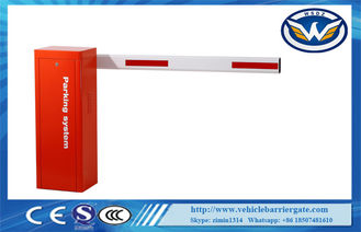 China LED Light Arm Heavy Duty AC Motor Security Boom Gate For Parking Lot System supplier