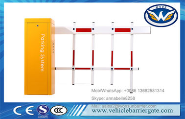 China Two Fencing Automatic Parking Barriers Vehicle Access DZ-130 Boom Gate Yellow Color supplier
