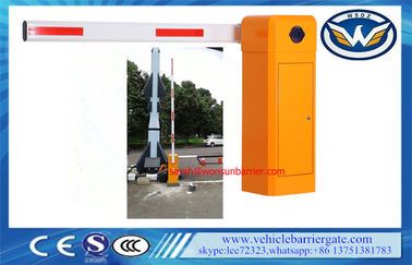 China Car Park Entrance Automatic Barrier Gate 50 / 60 Hz Vehicle Access 8 Meters Boom supplier