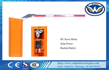 China Solar Power Automatic Barrier Gate DC Servo IP54 No Need Human Intervention supplier