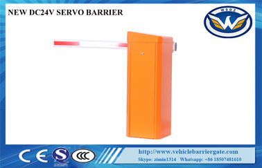 China IP54 Parking Gate Barrier , Automatic Parking Gate Backup Battery 24VDC Servo supplier