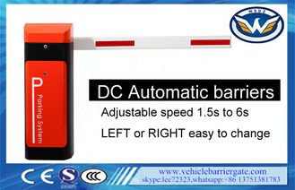 China Durable Automatic Gate Barrier System DC Motor IP44 1.5-6s Time For Up / Down supplier