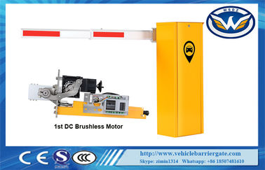 China 1.5s - 8s Running Speed Electric Boom Barrier 24V Backup Battery Supported supplier