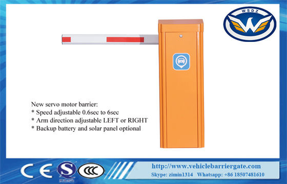 Adjustable 0.6S 3M Arm Ip55 RS485 200W Vehicle Barrier Gate