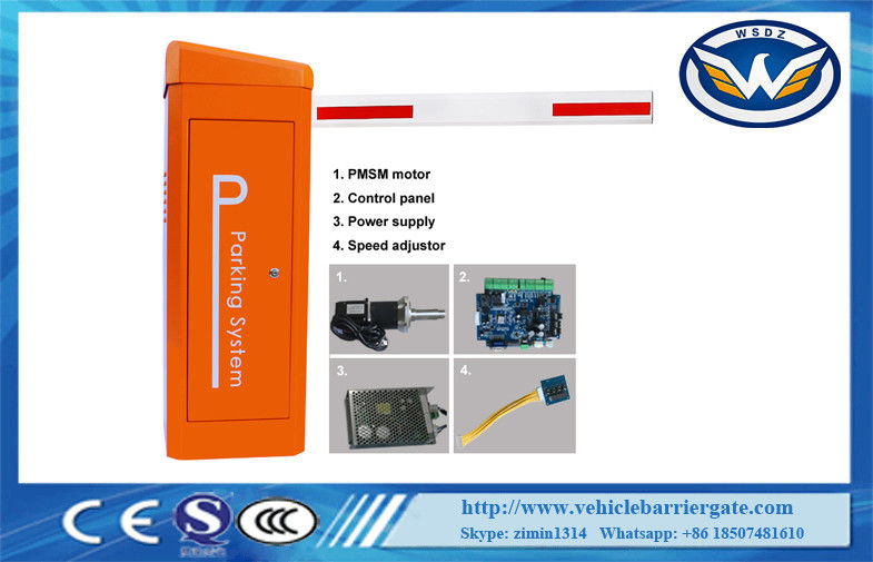 Remote Control Adjustable IP65 24V Vehicle Barrier Gate With PMSM Motor