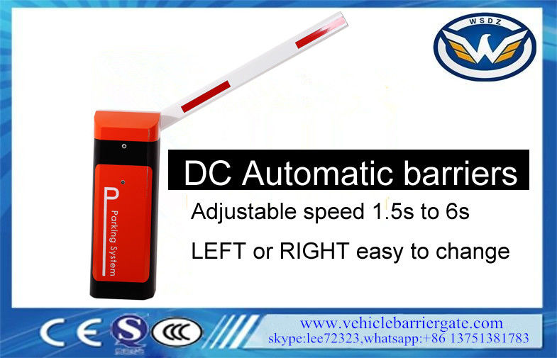Road Vehicle Barrier Gate Adjustable Speed 1400rpm Rated Speed Easy Maintenance