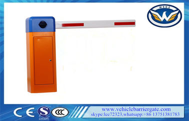 China Updated Telescopic Arm Parking Lot Barrier Gates Fast Speed AC Motor Customized Color factory