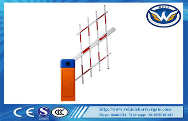 China Three Fence Arm 3S / 6S Traffic Barrier Gate with Double Limit Switch distributor