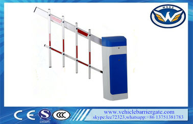 China Clutch Device Toll Barrier Gate 1 - 6 Meters Aluminum Alloy Straight Arm factory