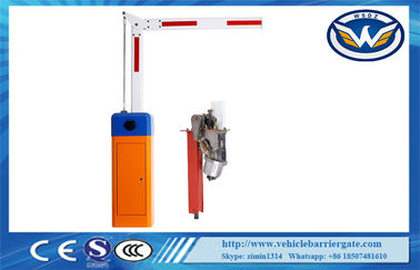 China Stainless Steel Parking Traffic Barrier Gate / Automatic Car Park Barriers Access Control distributor