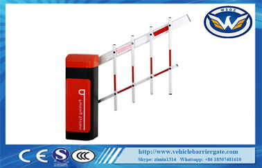 China IP44 Degree Car Park Barriers 24V Brushless DC Motor Two Fence Boom Gate distributor