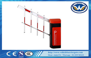 China Led Light Rubber Boom Road Safety Traffic Barrier Gate For Access Control System factory