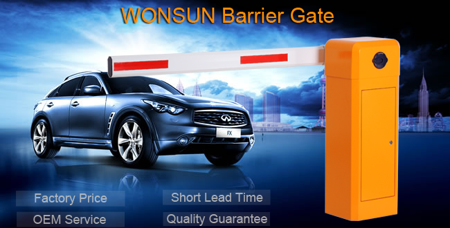 High Security Barrier Gate Electric Intelligent Boom Barrier With Foldable Barrier Arm