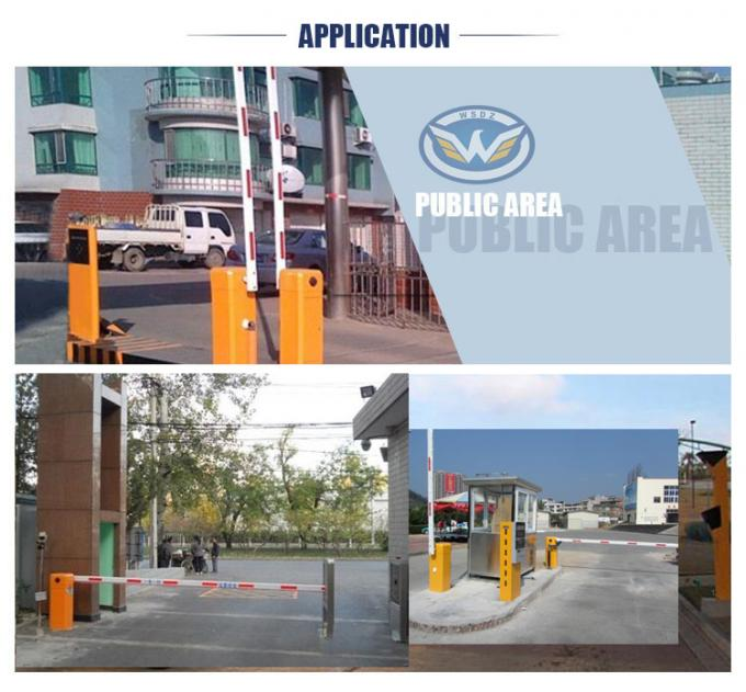 IP44 DC Brushless Automatic Car Parking Barriers System Arm Direction Changed