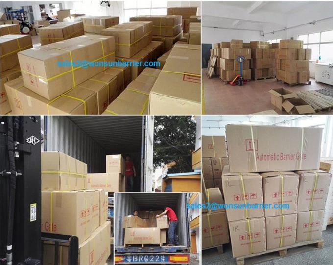 OEM Manual Release Folding Vehicle Barrier System With  Double Safety Limit Switches