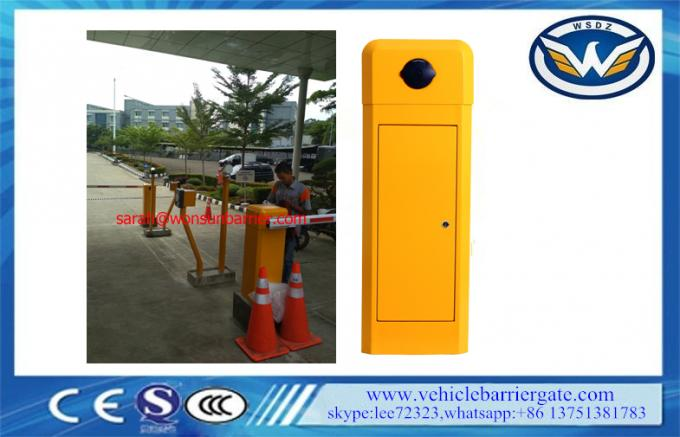 Single Bar Toll Barrier Gate High Sensitive Limit Switch With Traffic LED Light