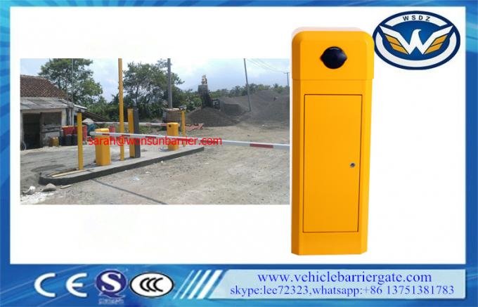 Classic Model Toll Barrier Gate 8 Meters Boom Length With Adjustment Running Speed