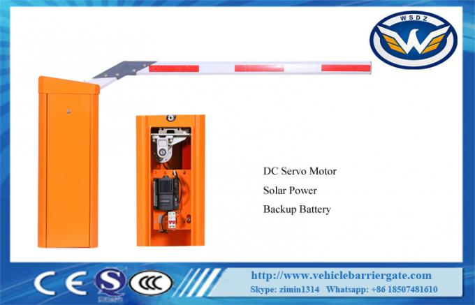 Solar Power Automatic Barrier Gate DC Servo IP54 No Need Human Intervention