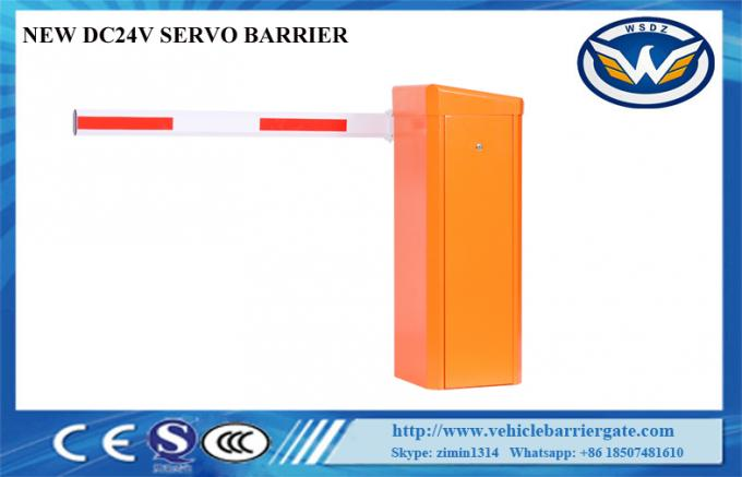 0.6S High Speed Electric Barrier Gate System 24VDC Servo Motor For Toll Plazza
