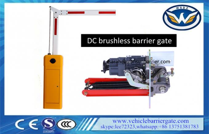 Parking Lot Gate Arms Vehicle Barrier Gate With DC Brushless Motor