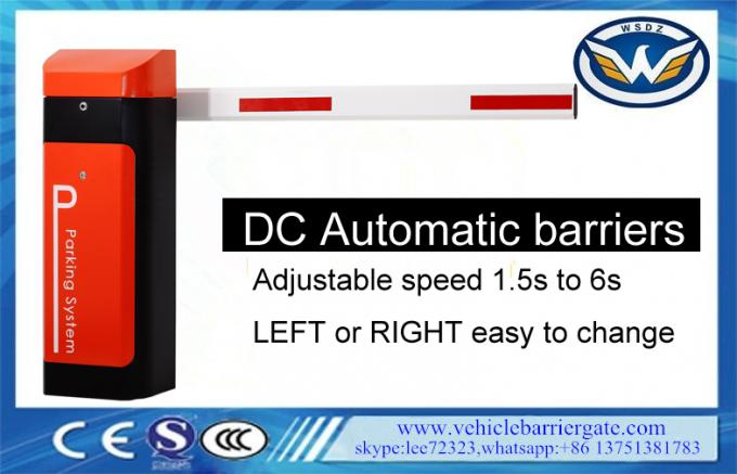 Automatic Boom Barrier With Rfid Car Park Boom Gates DC Battery