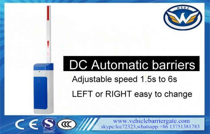 DC Motor Vehicle Barrier Gate 1m-6m Arm Length Operation Safety With Position Sensors